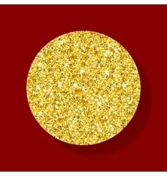 Golden figure circle vector