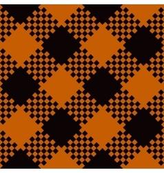 Halloween Tartan Seamless Pattern vector image