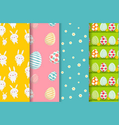 Happy easter backgrounds vector