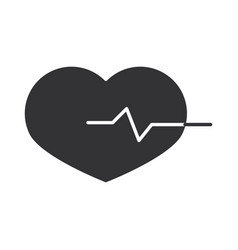 heartbeat medical cardiology diagnosis silhouette vector image