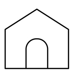 Home page thin line icon house vector