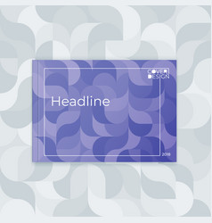horizontal cover template a4 wavy abstract design vector image