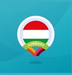 hungary flag map location pin european football vector image