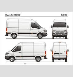 Hyundai h35 l2h2 cargo van vector