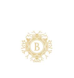 initial b wedding boutique logo designs vector image