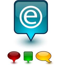Internet speech comic icons vector