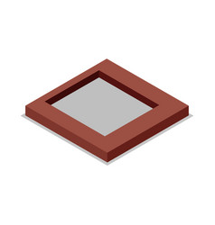 Land preparation under building isometric 3d icon vector