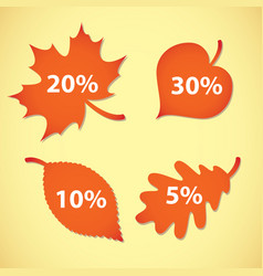large autumn sale set vector image vector image