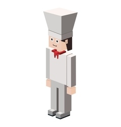 lego silhouette with chef icon vector image