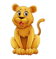 Lion cub with happy face vector