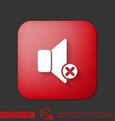 loudspeaker Volume icon sound icon vector image