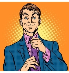 Man in a suit and pink shirt dude vector