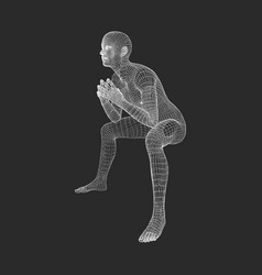 Man in a thinker pose 3d model of man vector