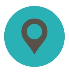 Map Marker flat grey and cyan colors round button vector