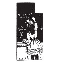 math problems or chalkboard vintage engraving vector image