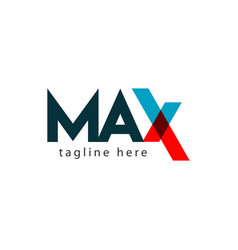 Max logo letter template design vector