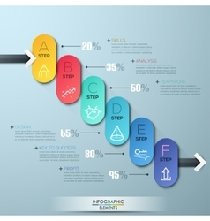 Modern business circle style options banner vector