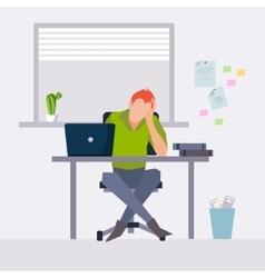 modern flat character design on businessman vector image