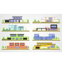 Modern homes vector