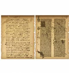 Old manuscript vector