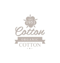 Organic Cotton Product Logo Design vector image