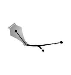 pen tip design vector image