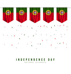portugal independence day template design vector image
