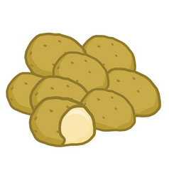 potato isolated vector image
