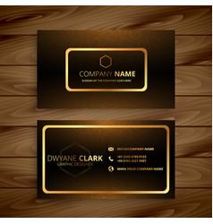 premium golden business card design vector image