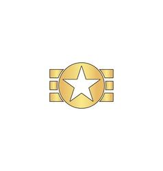 Ribbon star computer symbol vector