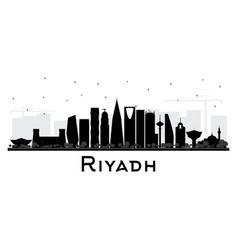 riyadh saudi arabia city skyline silhouette with vector image