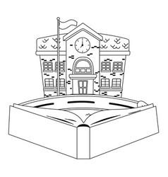 School building and book design vector