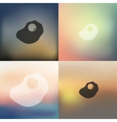 Scrambled icon on blurred background vector