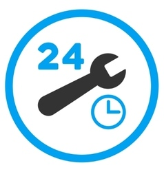 Service Hours Rounded Icon vector image
