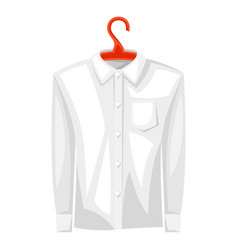 shirt on hanger vector image