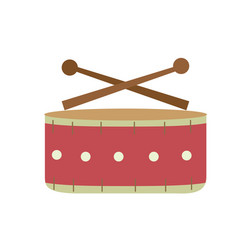 Snare drum musical instrument to play music vector