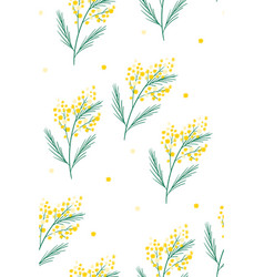 spring yellow flowers 8 vector image