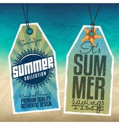 Summer Sale Tags vector