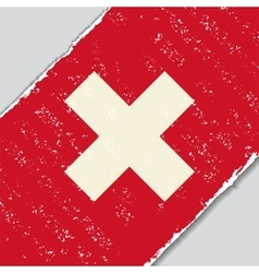 Swiss grunge flag vector