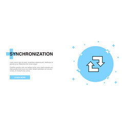synchronization line icon simple icon banner vector image