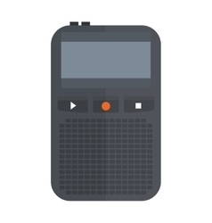 Tape recorder or dictaphone flat icon isolated on vector