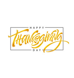 thanksgiving typography for greeting cards and vector image