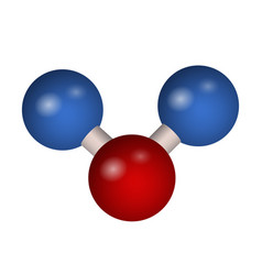 the 3d molecule of carbon dioxide vector image