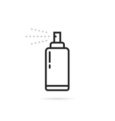 thin line bottle with aerosol spray vector image