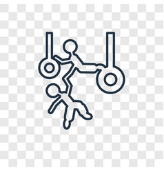 Trapeze artists man concept linear icon isolated vector