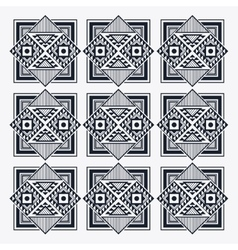 Tribal design black and white abstract figure vector