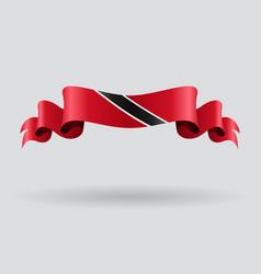 Trinidad and Tobago wavy flag vector