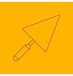Trowel line icon vector image