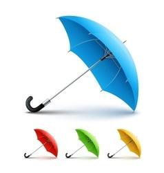 Umbrellas color set vector