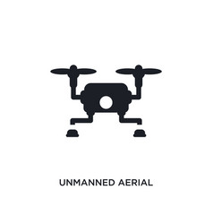 Unmanned aerial vehicle isolated icon simple vector